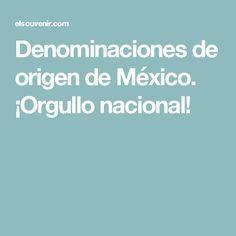 Denominaciones de origen de México. ¡Orgullo nacional!