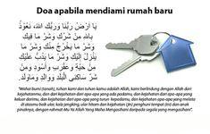 Doa mendiami rumah baru. Doa for new houses.