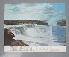 Lithograph in four colores realized in 1978 by Superstudio in 500 ex. numbered, signed and with the embossment of Superstudio Stampati. Dimensions 69 x 87 cm. Ink Stamps, Modern Materials, Niagara Falls, Geography, Surrealism, Paper Art, Im Not Perfect, Fine Art Prints, Art Gallery