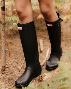 3fcac0bf0a65 Take on new ground in expertly crafted rain boots.  HunterOriginal Hunter  Boots Socks