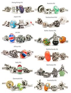 All the Trollbeads world tour sets #TrollbeadsWorldTour