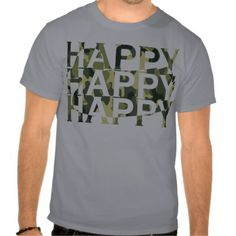 Happy Happy Happy Camo Funny Redneck Shirts -- Christmas is Close!  Finish your shopping with 15% off all products!   Use code: LASTCHANCE15