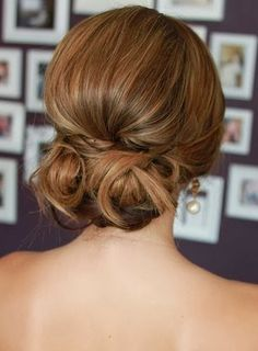 Low Bun: Choosing Wedding Hairstyles to Complement You. http://memorablewedding.blogspot.com/2014/01/choosing-wedding-hairstyles-to.html