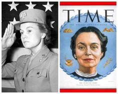 Oveta Culp Hobby-WW2-first director of WAC-Colonel-Distinguished  Service Medal (First Secretary of Health, Education and Welfare)