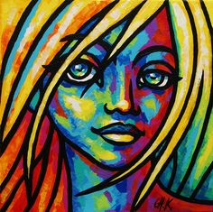 """Abstract Painting Of Faces Hd Images 3 HD Wallpapers Love the colours with the black """"lead pipe"""" look as well as the texture of the paint itself."""