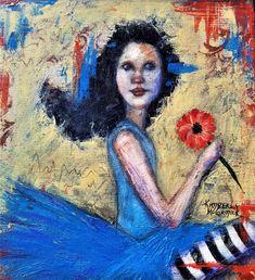 #kimberlymccormick #artbykimberly #beautyforashesartanddecor #christianart #figurativeart #dancer #blackhairedbeauty