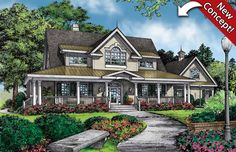 House Plans with Wraparound Porches - Nothing emphasizes the country, farmhouse or Victorian house plan with more grace than a wraparound porch. As outdoor living spaces become more important to today's homeowners, a house plan with a timeless wraparound porch increases the value and curb appeal of the home with ease.