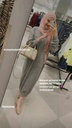 Casual Hijab Outfit, Ootd Hijab, Street Hijab Fashion, Muslim Fashion, Ootd Poses, Hijab Style Tutorial, Hijab Fashionista, Hijab Fashion Inspiration, Daily Dress