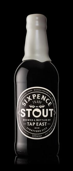Tap East Sixpence Stout • Dark ruby beer lasting beige head. Roasty malt and juicy aroma. More chocolate than anything in the mouth with some good dry malt flavour. Yep a decent if slightly harshly roasted stout.