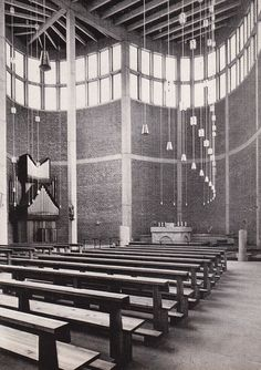 St. Theresia Church   Linz, Austria . 1959-1962   Architect: Rudolf Schwarz