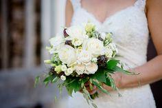 Romantic White Rose and Mountain Wildflower Bouquet | Wedding Memories | See More! http://heyweddinglady.com/alpine-wedding-in-austria-from-wedding-memories/