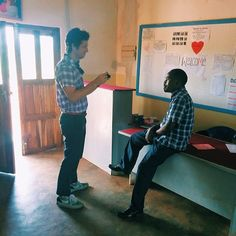 Interviewing Christian, The principal of Adziwa in Lilongwe Malawi. He is such a great leader and believes in all the kids at his school! #mochaclubexp