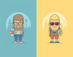 Benefits Illustrations by Arek Kajda