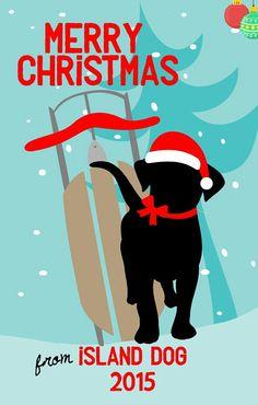 2015 Island Dog Christmas Tree Ornament - Island Dog
