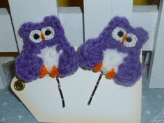 Handmade Crochet Owl Bobby Pin Set by TrueColorsBoutique on Etsy, $7.00