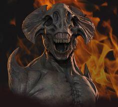 Demon Sculpt Composite by Mavros-Thanatos.http://mavros-thanatos.deviantart.com/art/Demon-Sculpt-Composite-297689894