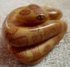 Wounaan Embera Bushmaster Snake Tagua Carving-Panama 16073007M
