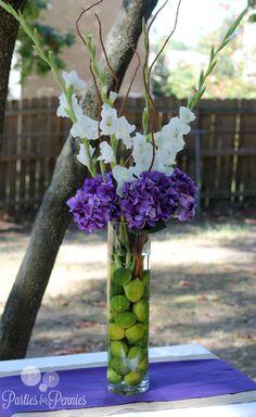 purple and green wedding centerpieces | Wedding Centerpiece #1