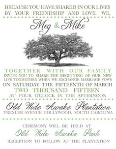 A personal favorite from my Etsy shop https://www.etsy.com/listing/214017553/oak-tree-classic-wedding-invitation