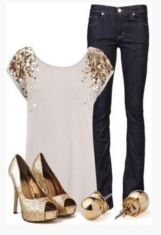 Love this date night look- not too flashy on the top and pieces that can easily be worn again (shoes & jeans).