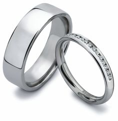 His & Her Wedding Bands from Je t'aime Diamonds