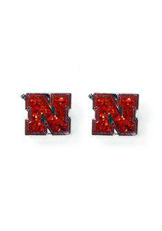 Nebraska Cornhuskers Red Glitter Team Logo Post Earrings http://www.rallyhouse.com/nebraska-cornhuskers-glitter-dangle-womens-earrings-91347?utm_source=pinterest&utm_medium=social&utm_campaign=Pinterest-NebraskaCornhuskers $7.99