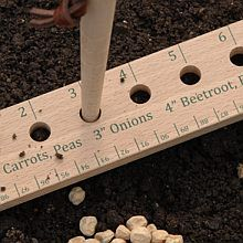 Seed and Plant Spacing Ruler-a good DIY reuse for an old wooden one, too. I NEED to make one of these!