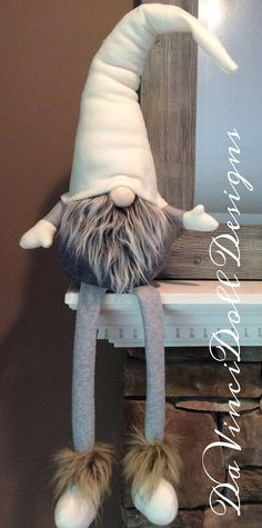 Scandinavian Woodland Gnome Shelf Sitter DaVinciDollDesigns