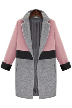 This coat's colorblocking works in all the best ways, from trimmed cuffs to a woolen lapel.SheIn Pink Grey Lapel Pockets Woolen Coat, $79.35 $53.39, available at SheIn. #refinery29 http://www.refinery29.com/dressy-winter-holiday-clothes#slide-8