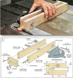 Small Parts Cutting Jig - Table Saw Tips, Jigs and Fixtures | WoodArchivist.com
