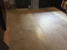 Filling the kitchen floor to make it smooth Luxury Vinyl Flooring, Luxury Vinyl Tile, Fired Earth, Vinyl Tiles, Stone Tiles, Kitchen Flooring, Tile Floor, Smooth, Floors Of Stone