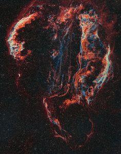 Ha/OIII bi-colour Veil Nebula Mosaic   by Rick-Stevenson