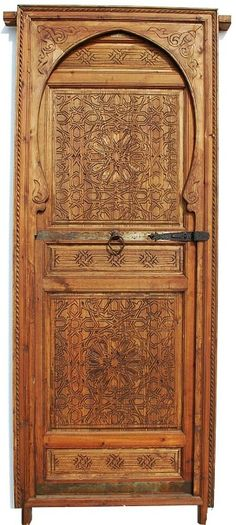 Moorish single door / http://www.justmorocco.com/pd_kufi_calligraphy_door.cfm