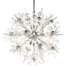 What about this for the powder room instead?  Starfire Chandelier by Maxim Lighting