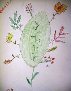 Autumn treasuries. Art lesson for children,