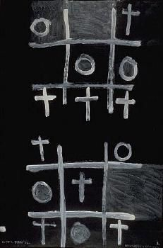 Colin McCahon - Auckland Art Gallery  Noughts and Crosses
