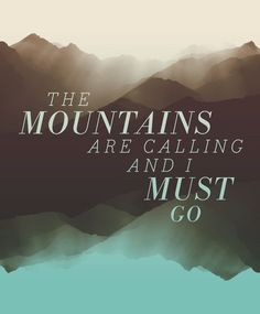 The mountains are calling... #travel