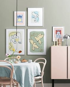 Pastel Kitchen gallery wall Kitchen Gallery Wall, Gallery Walls, Personalised Posters, Gold Poster, Pastel Kitchen, Nordic Interior, Stylish Kitchen, Arte Popular, Inspirational Wall Art