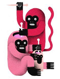Levi Jacobs - Illustration Voodoo Monkey - www.levijacobs.nl