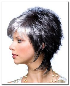 Noriko Wigs Millie View Of All Images For Millie by Noriko - Kurzhaarfrisuren Short Grey Hair, Short Hair With Layers, Short Hair Cuts For Women, Gray Hair, Short Shag Hairstyles, Short Layered Haircuts, Hairstyles 2016, Trending Hairstyles, Medium Hair Cuts