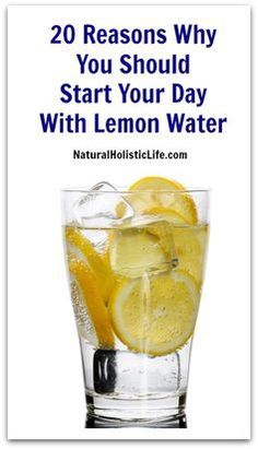20 Reasons Why You Should Start Your Day With Lemon Water >> Natural Holistic Life #lemonwater #detox