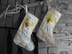 Baby's FIRST CHRISTMAS. Personalized stocking for Boy by SwinkyDoo, €35.00