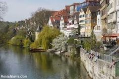 Tubingen, Germany-a university town filled with typically German architecture with a beautiful town center.