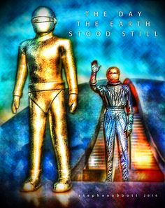Gort the Robot by Henstepbatbot Robot, Digital Art, Portrait, Tees, Movies, Movie Posters, Painting, T Shirts, Headshot Photography