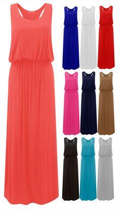 Ladies Bubble Toga Racer Muscle Back Dress Womens Jersey Maxi Plus Sizes 8-22