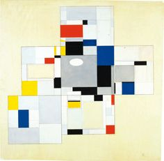 "Piet Mondrian, Design for the library-study of Ida Bienert, also known as ""Salon de Mme B…, in Dresden"", 1926"