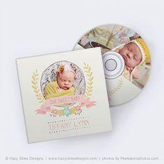 VENTE boîtier de CD Dvd et CD Dvd Label modèle par hazyskiesdesigns