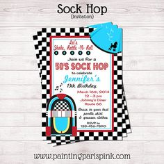 14 Sock Hop Invitation Wording Samples Socks Sock hop party and