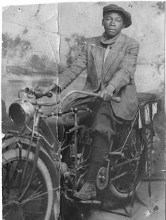 Otha Rice, a Denver Businessman, here as a teenager astride an Indian Motorcycle. Date Unknown.  If you like old bikes, here's Redleg's Riders for ya:http://redlegsrides.blogspot.com/2013_11_01_archive.html
