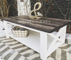 "326 Likes, 25 Comments - Timber + Gray Design Co. (@timberandgray) on Instagram: ""X frame coffee table with a reclaimed wood style top ✖️ . . . . #fixerupperstyle #rustic…"""